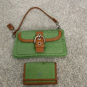 Coach wristlet with mini wallet